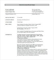Sample Resume For Government Jobs Radiovkm Tk Examples Downloadable Federal