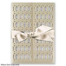 Take Your Wedding Invitation To New Heights A Laser Cut Lattice Wrap Enfolds