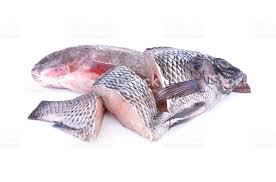 Whole And Portion Cut Fresh Nile Tilapia Fish On White Background Royalty Free Stock Photo
