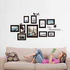 Perfect Ideas Frame Wall Art Removable Memories Picture Skyline Wict Eiffel Tower Best Designing Living Room