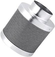 cocoarm aktivkohlefilter edelstahl kohlefilter aktivkohle filter carbon air filter allergenen und geruch reduzierung für badezimmer büro hotel 4inch