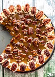 Pumpkin Pie With Pecan Praline Topping by Pumpkin Cheesecake With Pecan Praline Sauce Recipe Pecan
