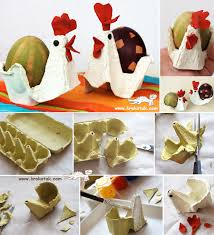 Egg Carton HENS cute for Easter crafting