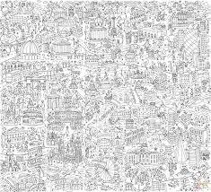 Giant Poster London Coloring Book