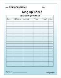Halloween Potluck Sign In Sheet by Sample Event Sign In Sheets