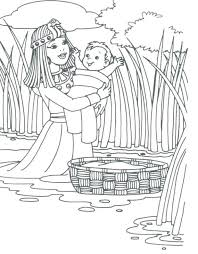 Adult Images About Baby Moses Bible Coloring Page Burning Bush Free Pages Printable