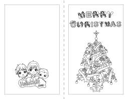 Nativity Scene Christmas Tree Cards Coloring Page