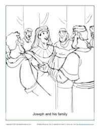 Joseph And His Family Coloring Page