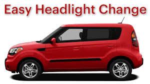 kia soul headlight change easy