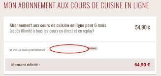 cours de cuisine gratuit en ligne ᐅ codes promo l atelier des chefs 65 codes de réduction bons