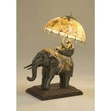 Maitland Smith Buffet Lamps by Smith Decorative Elephant Lamp Tiger Penshell Accents U0026 Umbrella