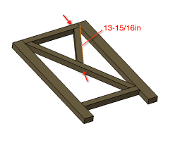 Attach The Longer Angled 2x2 With 2 Wood Screws From Top And Bottom As Shown Make Sure To Glue These Joints Well