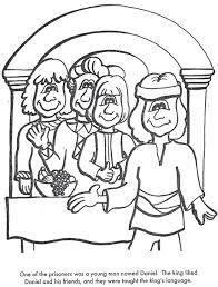 Learn Bible Stories With Daniel Obeys God Coloring Page