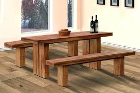 Picnic Table Bench Cushion Wooden And Large Size Dining Simple Minimalist Tables With Benches Floor 8