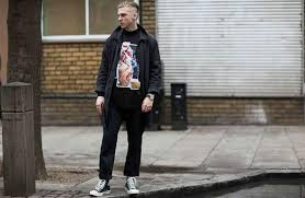 Jeans And Converse Mens Street Style Black