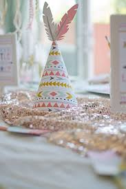 Image Of A Cute Boho Style Tribal Hat For Baby Shower