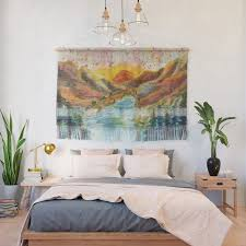 buy valley watercolor landscape painting wall hanging