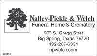 Nalley Pickle & Welch Funeral Home & Crematory in Big Spring TX