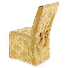 Holiday Joy Dining Room Chair Cover In Gold Bed Bath