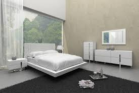 modern white leather pattern headboard bed