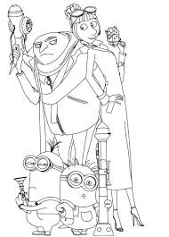Full Image For Free Coloring Pages Toddlers Online Despicable Me 2