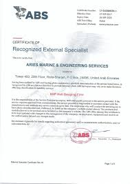 bureau of shipping abs marine certificates approvals of arise marine iso dvn rina