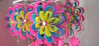 Newspaper Craft DIY Simple Home Decor Hanging Flowers Handmade Decoration