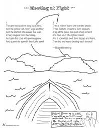 Poems About Halloween Night by Coloring Page Poems Meeting At Night By Robert Browning