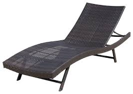 eliana outdoor brown wicker chaise lounge chair contemporary