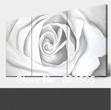 3 Panel Rose Canvas Wall Art Modern Abstract Three Piece Picture Oil Painting On