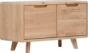 home affaire kommode infinity mit schönen abgerundeten kanten aus massivem eichenholz