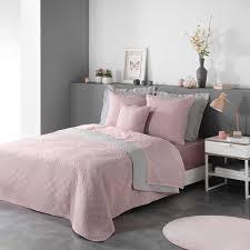 plaid tagesdecke vintage rosa grau 220x240 raumtraum dekoshop