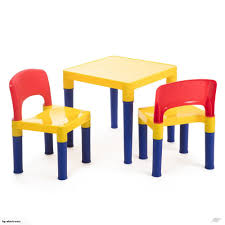 Coloured Kids Children Play Table & 2 Chairs Plastic Furniture Set 3-8y
