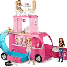 Doll Convertible Pink Car Kids Toys Girls Vehicle Fits 2 Barbie Girl