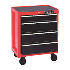 Craftsman 26-1/2 In. 18 In. D X 34 In. H Steel 4 Drawer Red/Black ...