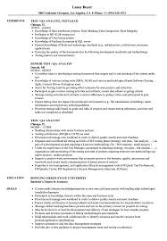 Test / QA Analyst Resume Samples | Velvet Jobs Resume Sample Qa Valid Tester Inspirationa Professional Years Experience Format For Experienced Software Testing Engineer Fresh Test Lovely Samples Awesome Qc Inspector Quality Assurance 40 Mobile Application Stockportcountytrust Etl Jameswbybaritonecom Best Of Avidregion4org New Kolotco Beautiful Software 36 Junior