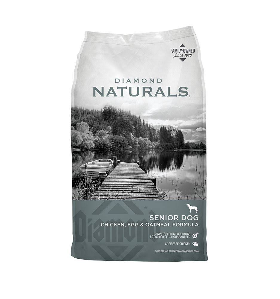 Diamond Naturals Dry Dog Food - Senior, Chicken and Rice Formula, 18lbs