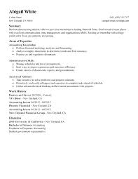Sample Resume Analytical Skills Training Internship College Credits