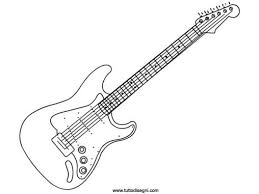 Electric Guitar 2 GuitarsColoring PagesMusicaEverythingPages To ColorPrintable