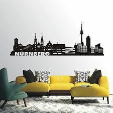 details zu wandtattoo wandaufkleber skyline nürnberg stadt wohnzimmer flur city 605 xl