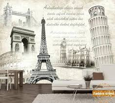 Paris Wallpaper For Bedroom Custom Vintage Poster Mural Arch Of Triumph