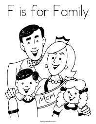 Beautiful Family Coloring Pages 88 For Your Download With