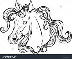Coloring Book Horse Stock Vector 491162218