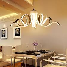 Led Modern Chandelier Lighting Novelty Aluminum Pendant Lights Suspension Lamp For Bedroom Living Room Dining Indoor Light Fixtures