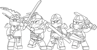 Lego Ninjago Coloring Pages Online Gold Ninja To Print Full Size