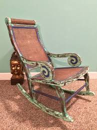 Handmade Antique Lincoln Rocking Chair Highly Distressed ...