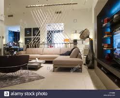 100 Bobois Roche Furniture Store Interior NYC Stock Photo