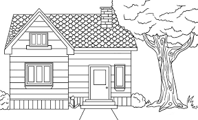Download Coloring Pages House Free Printable For Kids
