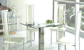 Contemporary Glass Dining Room Tables Square Table Vanity Ice In
