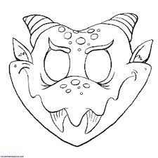 Halloween Mask Template Printable Monster Templates Rare Free Birthday Invitation 868